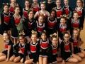 Amplonius-Cheerleadergruppe trainiert Großraumturnhalle Schulzentrum Rheinberg,  Kyra Friebe trainiert Schüler zwischen 11 und 16 Jahren.
